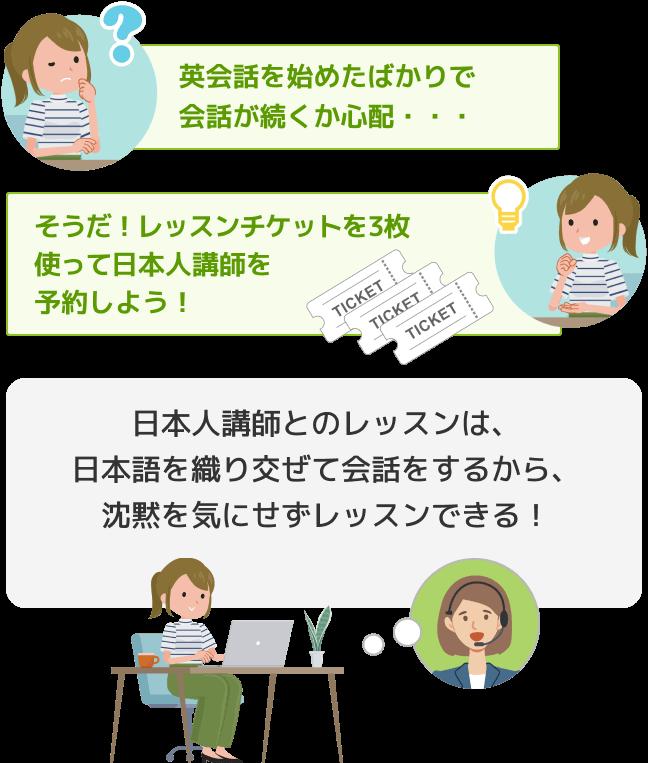 日本人講師を予約