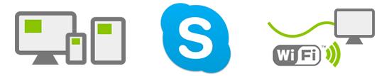 パソコン(スマートフォン)・インターネットができる環境・Skype
