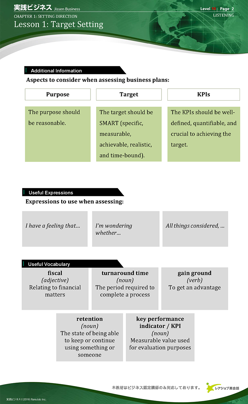 実践ビジネス レベル10 サンプル