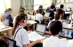 上峰小学校 授業風景