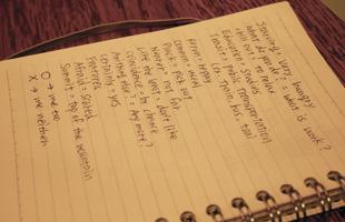英単語やフレーズを書き溜めているノート
